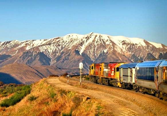 Enjoy a scenic TranzAlpine train ride that explores some breathtaking scenery.