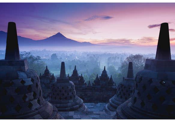 The famous Borobudur temple in Java