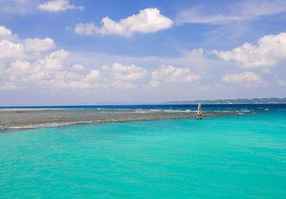 Predominantly blue snapshot of Neil Island