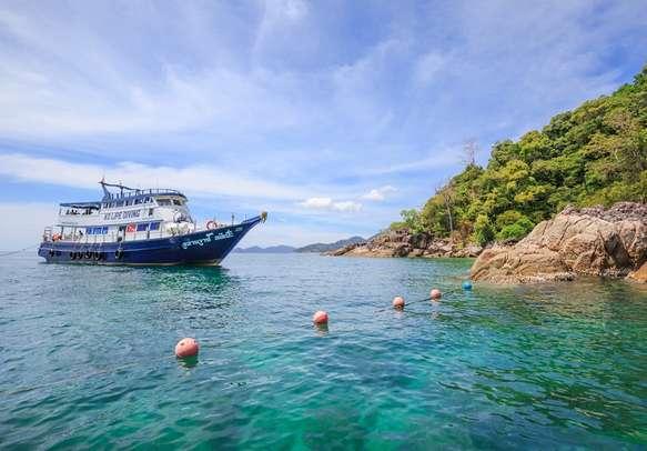 Big boat mooring near Andaman Island
