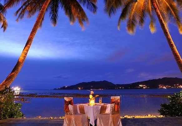 Romantic dinner in Andaman