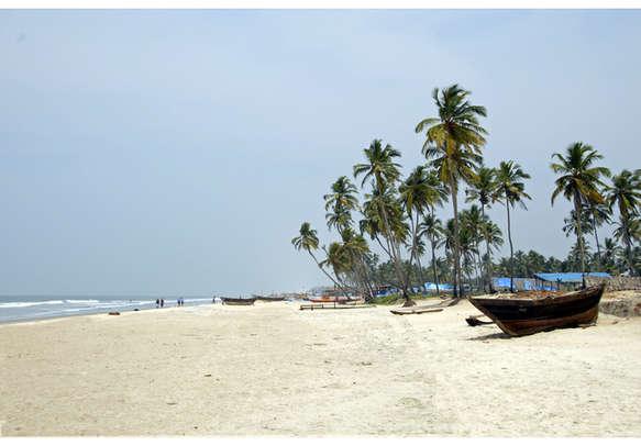 Colva Beach, a popular honeymoon destination in Goa