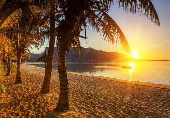 Beautiful Sunset in Mauritius.