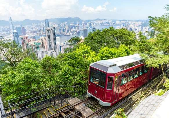 Gorgeous views from The Peak tram are unbelievably beautiful