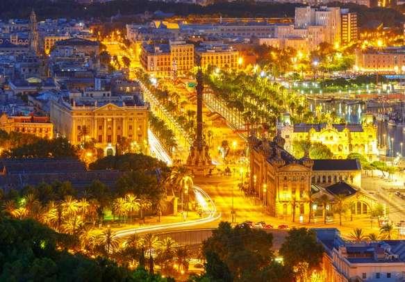Enjoy the amazing view of Barcelona