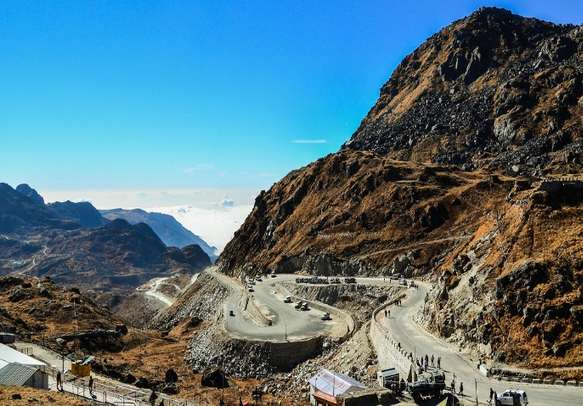 The bewitching Nathula Pass is a sight to behold.