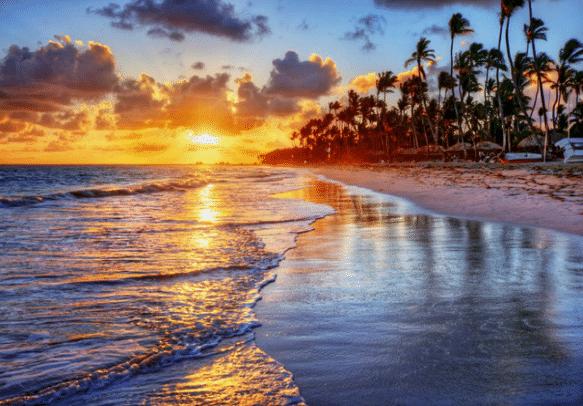 The mesmerizing Bali sunset.