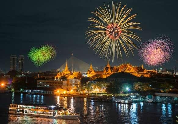Witness the grandeur at the Grand Palace in Bangkok