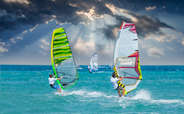 Windsurfing is a much sought after experience in Maldives.
