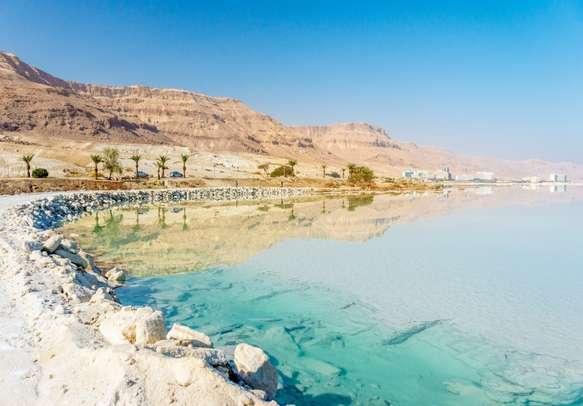 Laze around on the pristine shores of the Dead Sea.