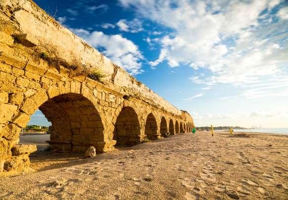 Explore the ruins of ancient Caesarea.
