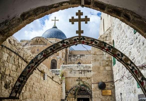 Tread the famous Via Dolorosa street in old city of Jerusalem