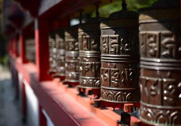 Prayer Wheels at Rumtek Monastery in Gangtok.