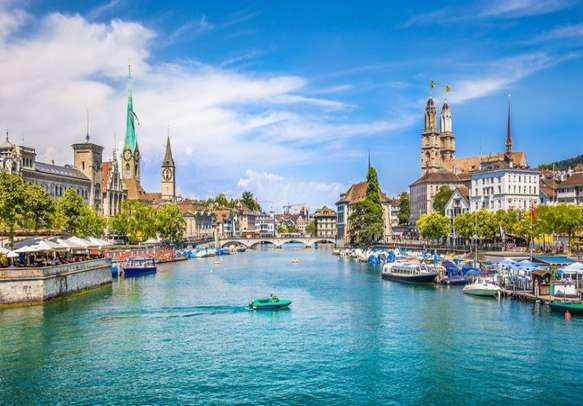 The tranquility of Lake Zurich will soothe your senses
