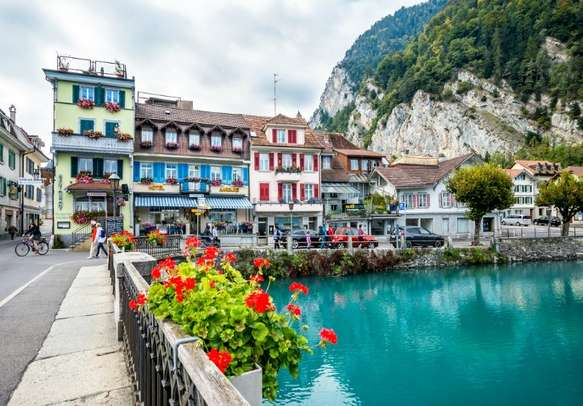 Explore the town of Interlaken that looks right out of a fairy-tale
