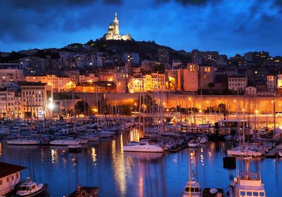 Beauty of France at its peak after sunset