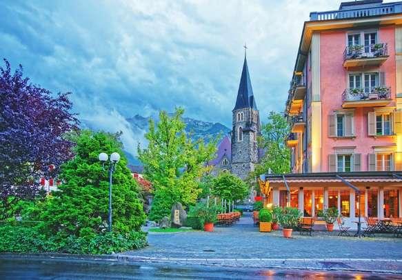 Visit the Church in Interlaken in Switzerland.