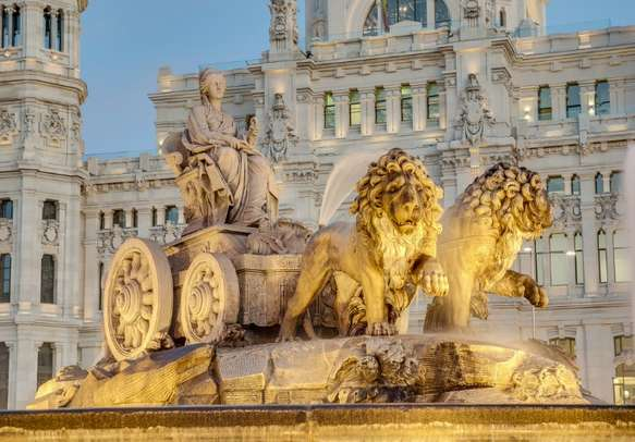 Marvel at the breathtaking Cibeles Fountain in Madrid