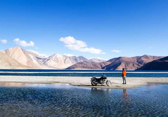 The mesmerizing Pangong Lake.