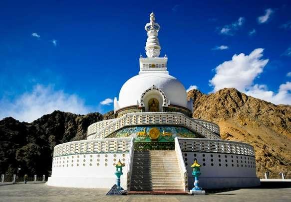 Time to meditate at the enchanting Shanti Stupa in Leh