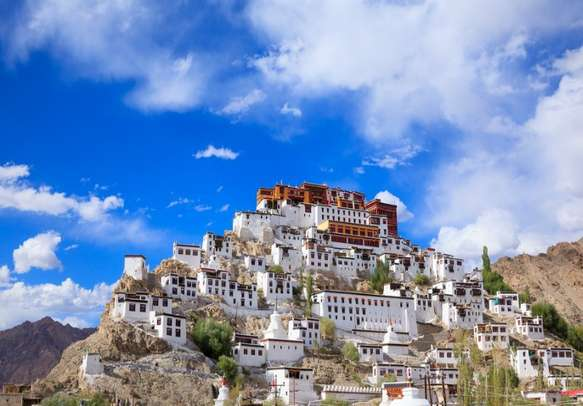 The Thiksey Gompa is among the most famous monasteries in India.