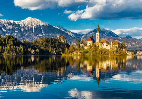Enjoy the amazing view of Bled Lake.