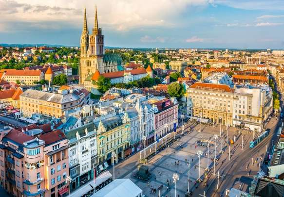 The main square of Zagreb is a sight to behold.