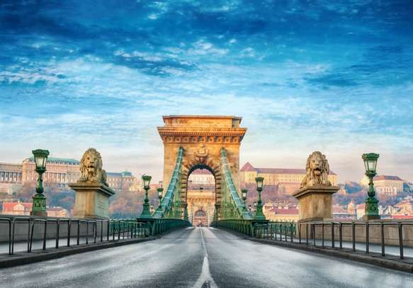The Chain bridge in Budapest is a must visit on this Europe holiday tour itinerary.