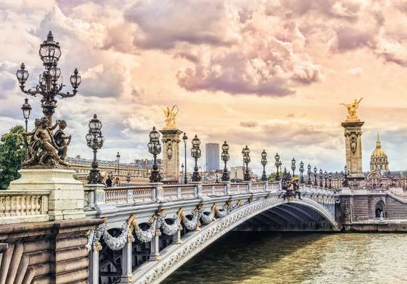 Alexander 3 Bridge is one of the most famous tourist attraction in Paris