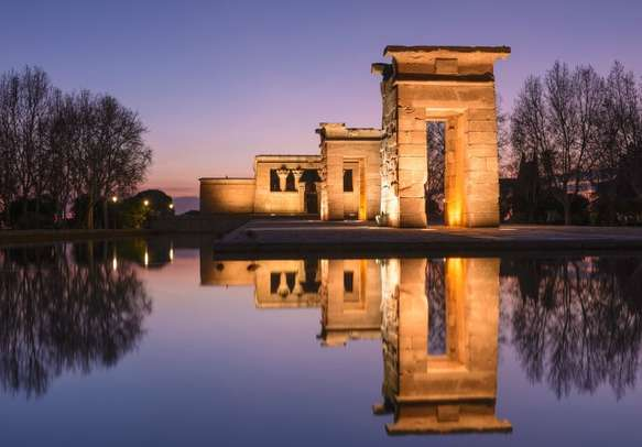 Enjoy the charm of ancient Temple of Debod in Madrid