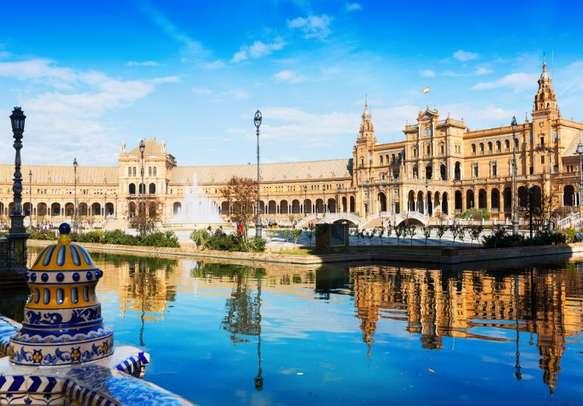 Delight in the grandeur of Plaza de Espana in Seville
