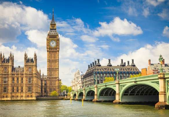 The grand Big Ben and Houses of Parliament in London