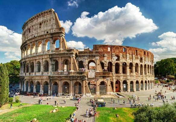 Get to the Roman Colosseum, the largest amphitheater ever built
