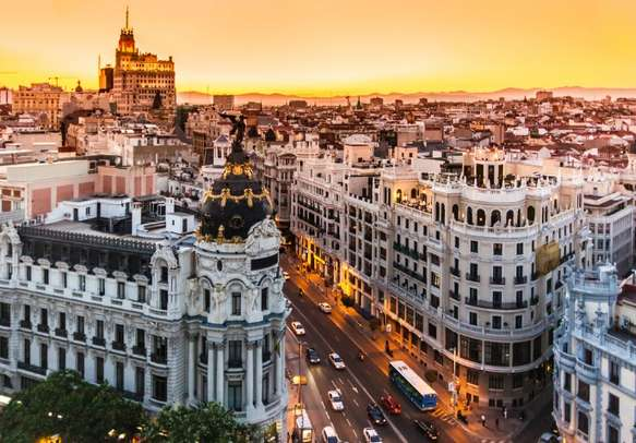 Enjoy the incredible atmosphere at the famous shopping street of Gran Via.