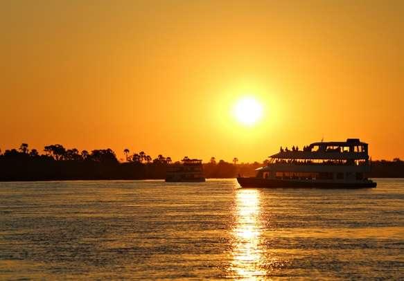 Glowing sunset at backwaters