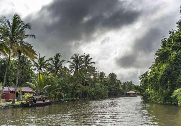 Kumarakom Houseboat in the backwaters.