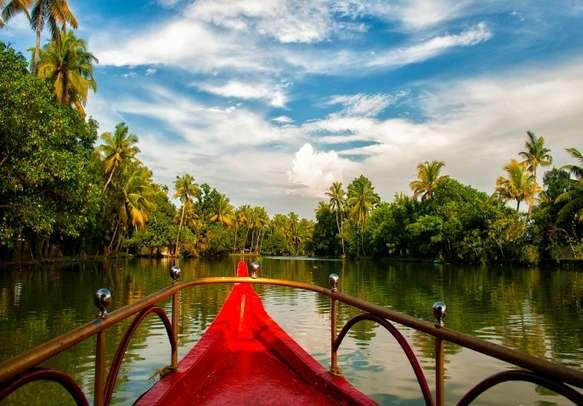 Enjoy a scenic honeymoon tour on the Kerala backwaters.