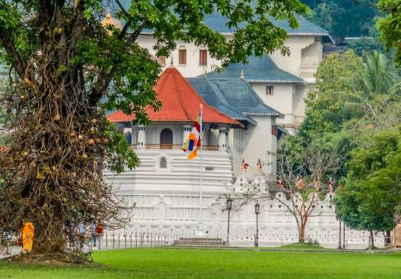 Sacred Temple of Tooth Relic in Kandy