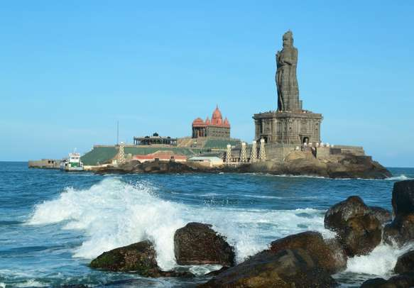 The Vivekananda Rock Memorial is a sight to behold on this tour package.