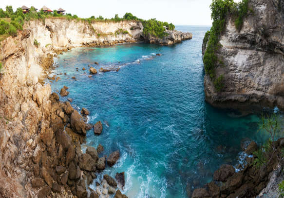 Blue lagoon famous place on Lembongan and Ceningan islands