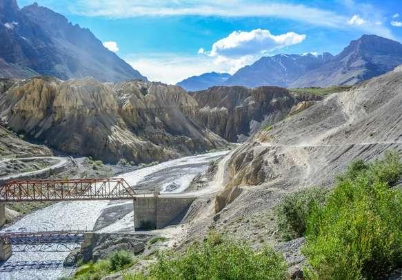 Spiti Valley landscape to Kaza
