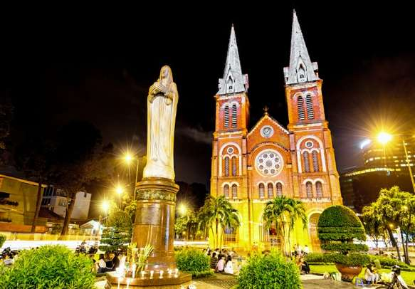 Visit the famous Notre Dame Cathedral in Ho Chi Minh city