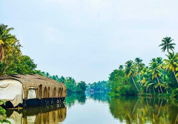 A houseboat in Kumarakom backwaters