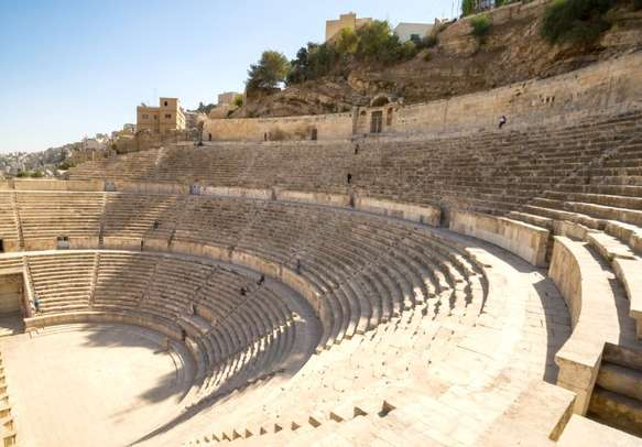 A view over the ancient Roman Theatre in Amman