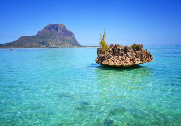 A view of South Island in Mauritius