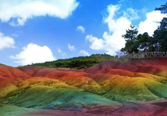 Be ready to be amazed by the Seven Coloured Earth at Chamarel in Mauritius