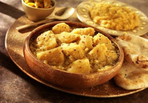 Bowl of Gujarati aloo