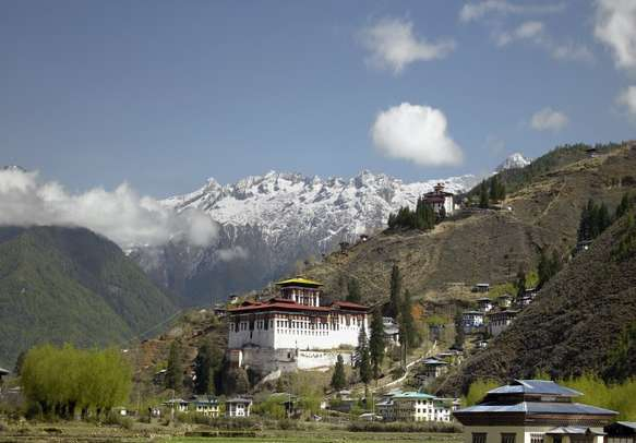 Explore Paro Dzong Monastery and learn a bit about Buddhism