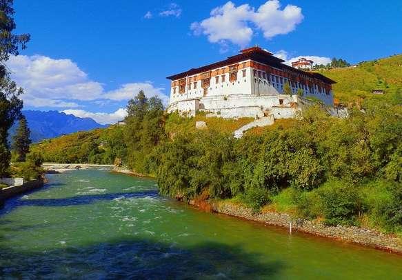 Ancient Bhutanese Buddhist Monastery Rinpung Dzong