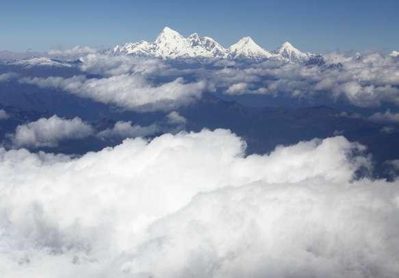 Sacred mountain of the goddess, or Mount Jholmolhari - the most sacred mountain of Bhutan.